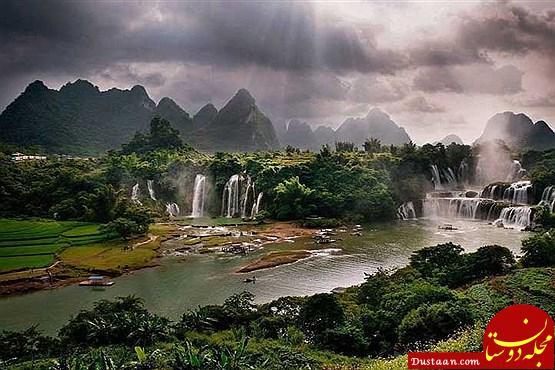 www.dustaan.com تصاویری ببینید از زیباترین آبشار آسیا