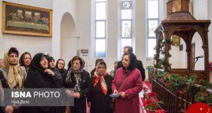 حضور معصومه ابتکار در کلیسای مریم مقدس +عکس