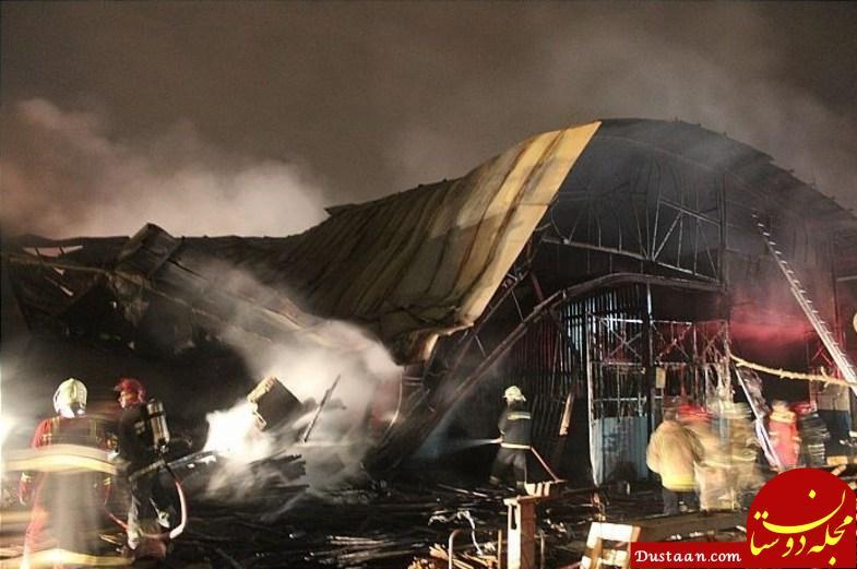 www.dustaan.com آتش سوزی گسترده در کارگاه 2 هزار متری تولید مبل +تصاویر
