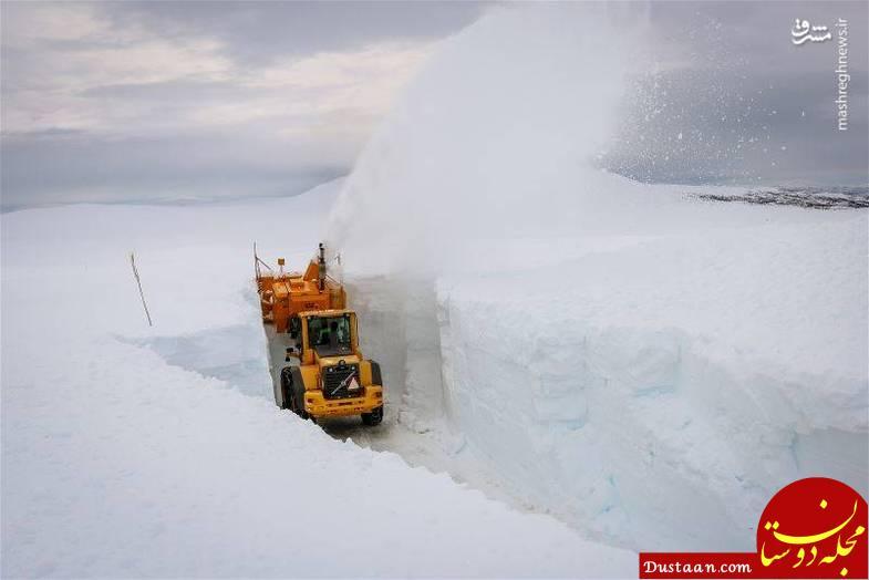 www.dustaan.com در این منطقه هر سال ۶ متر برف می بارد! +عکس