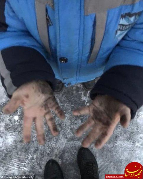 www.dustaan.com بارش «برف سیاه» در قزاقستان! +تصاویر