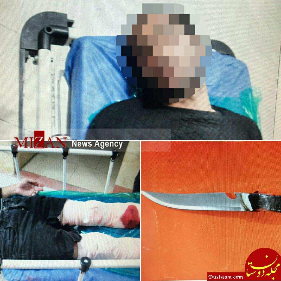 www.dustaan.com اراذل چاقو به دست محله فلاح دستگیر شدند +عکس