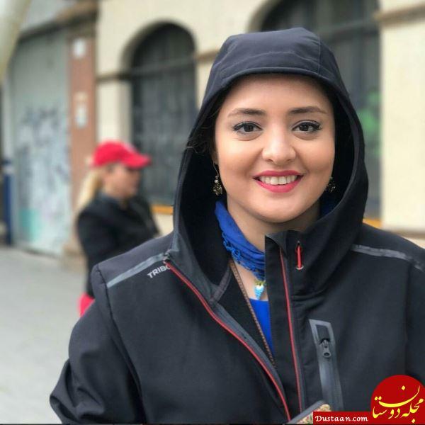 پوشش متفاوت نرگس محمدی در خارج از کشور! +عکس