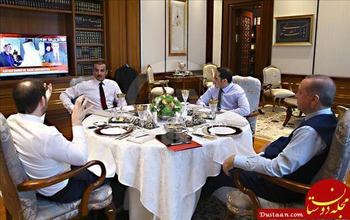 www.dustaan.com ضیافت اردوغان برای امیر قطر +عکس