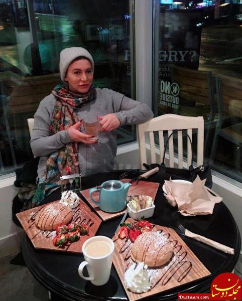 www.dustaan.com فریبا نادری برای تولد فرزندش به کانادا رفت! +عکس