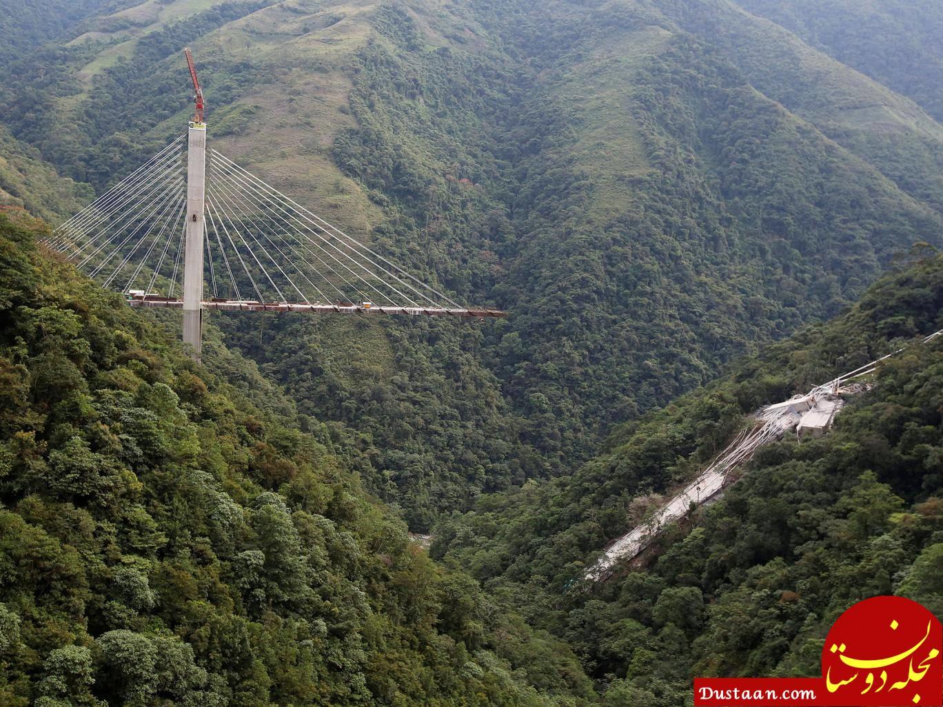 www.dustaan.com فرو ریختن پل نیمه کاره در کلمبیا جان 9 تن را گرفت +تصاویر