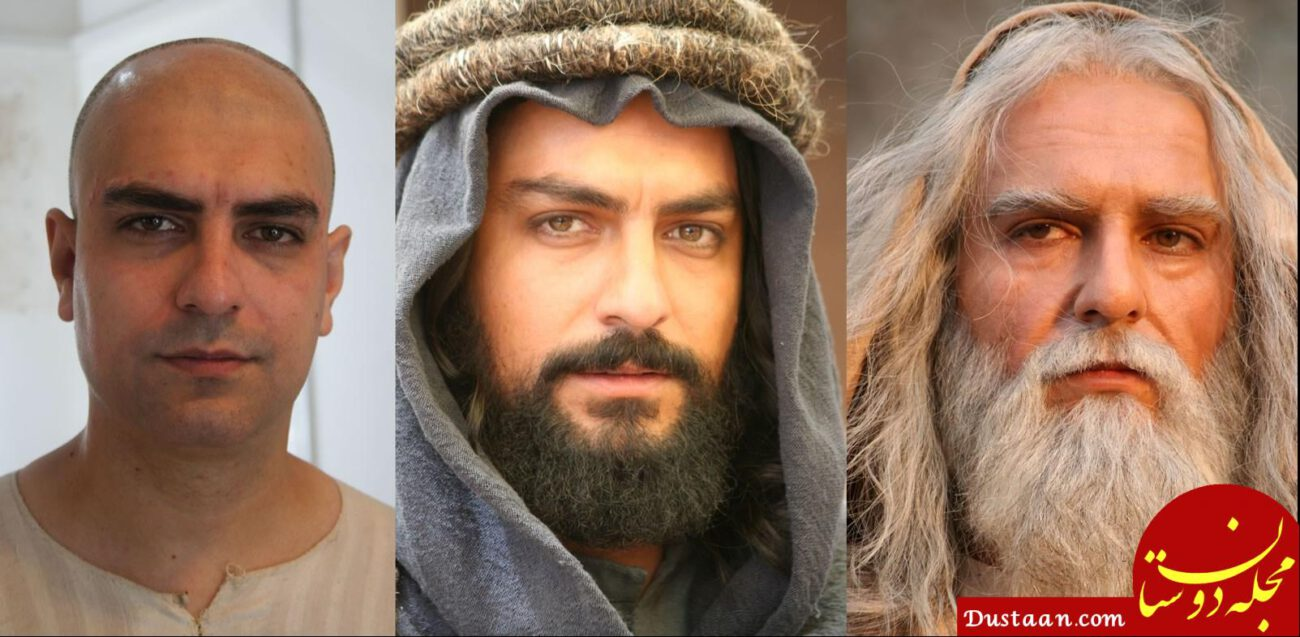 www.dustaan.com گریم دیدنی مهدی پاکدل در نقش «ابوطالب» +عکس