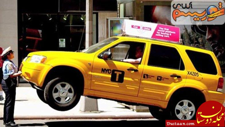 www.dustaan.com برخورد شوکه کننده پلیس زن با راننده گستاخ! +عکس
