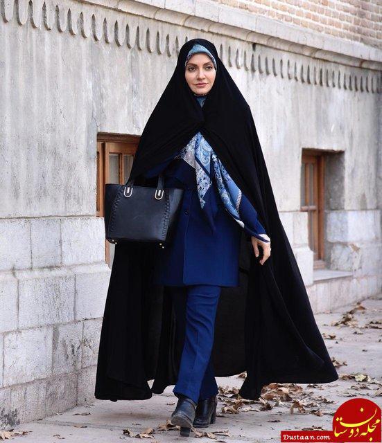 www.dustaan.com تیپ متفاوت «مهناز افشار» در سریال خانگی «گلشیفته» +عکس