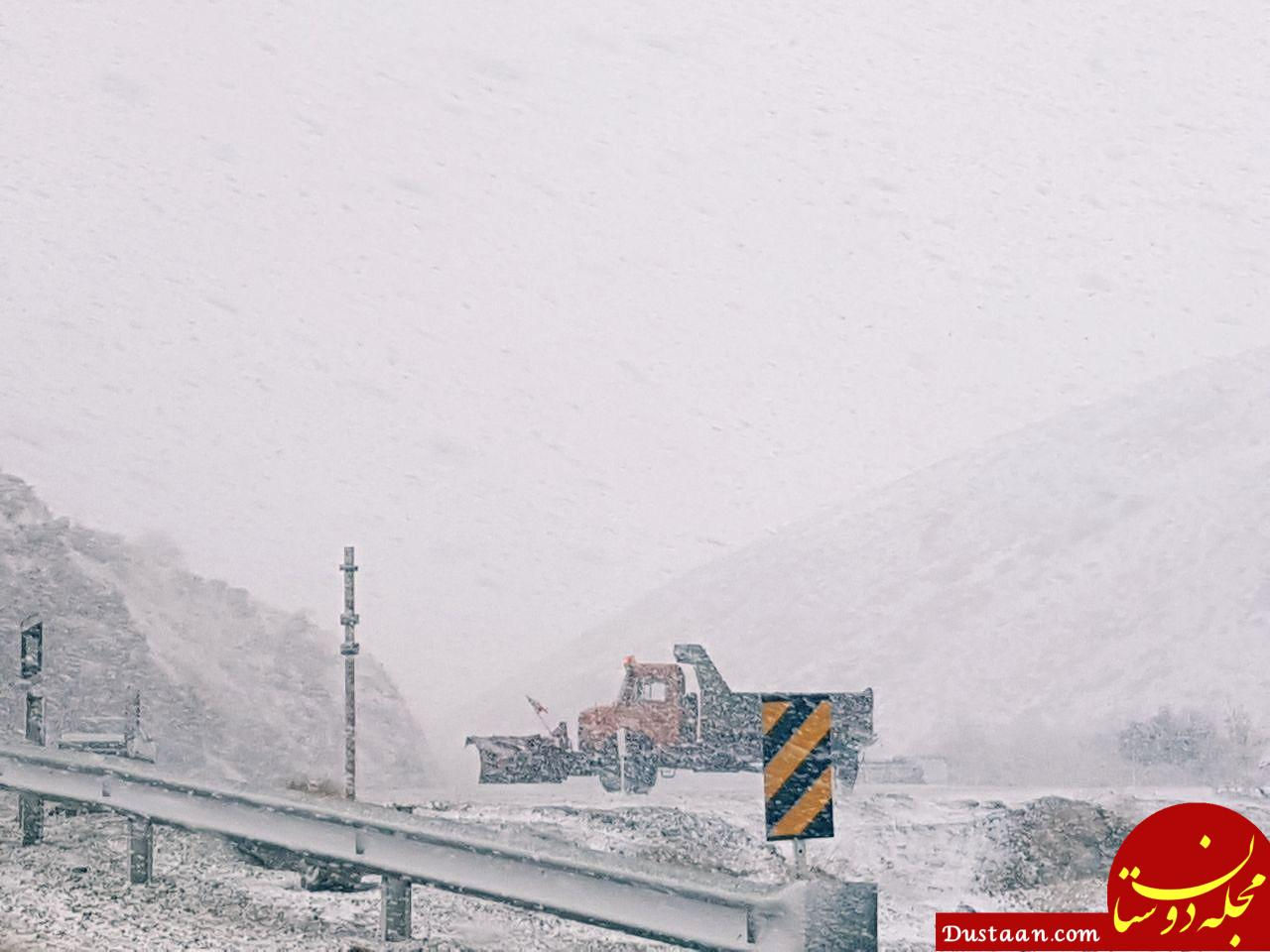 www.dustaan.com کولاک برف در جاده سقز +عکس