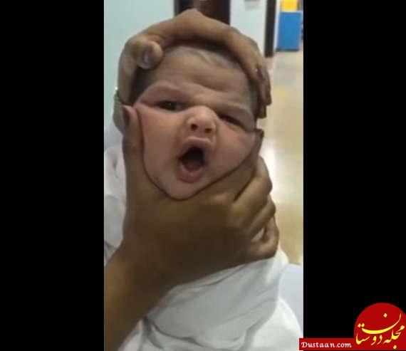 www.dustaan.com آزار و اذیت وحشیانه کودک تازه متولد شده در عربستان +تصاویر