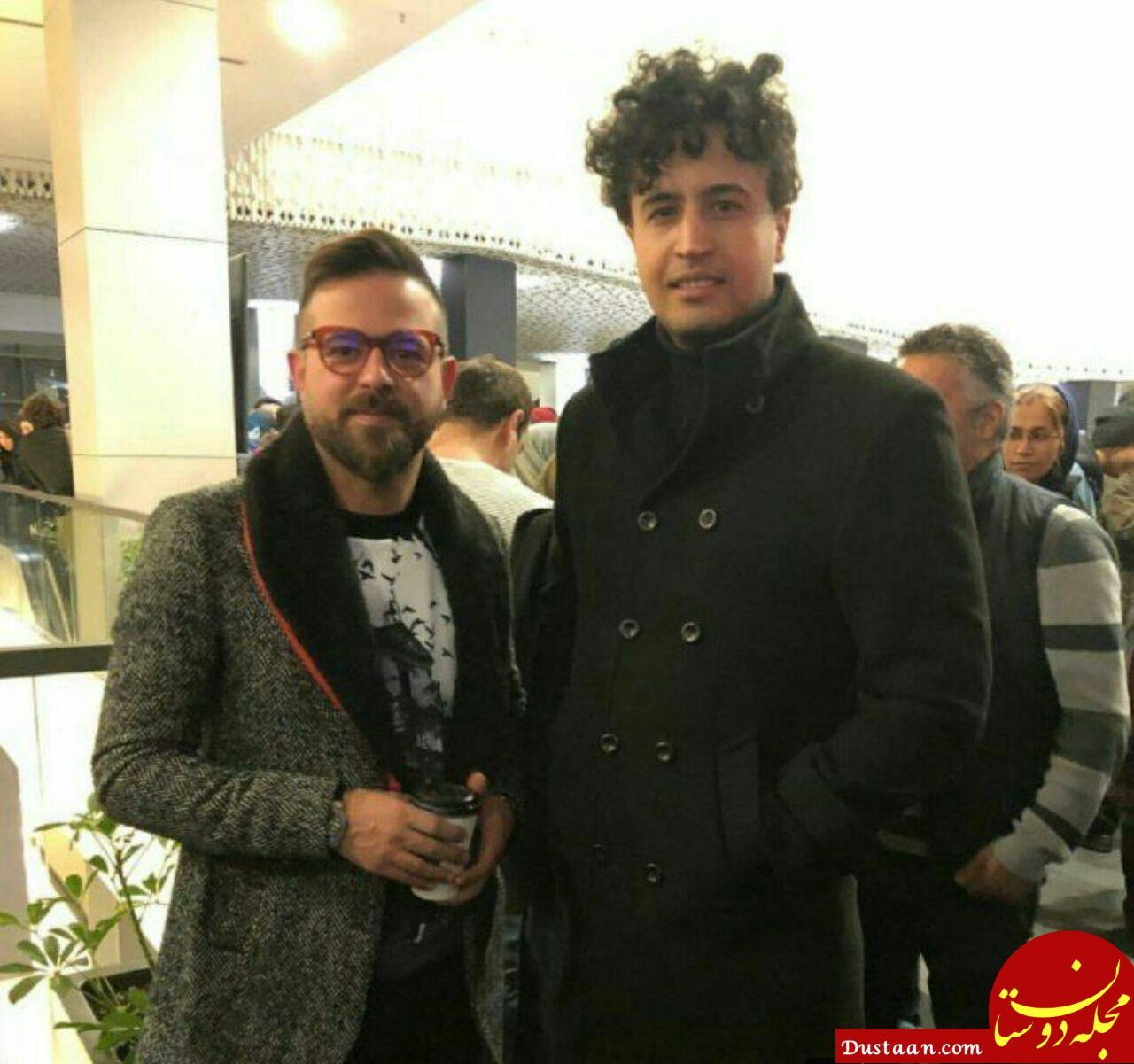 www.dustaan.com ظاهر متفاوت مهرداد صدیقیان در مراسم اکران پل خواب +عکس
