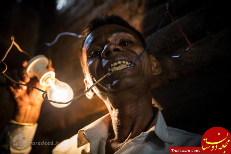 www.dustaan.com مردی عجیب الخلقه که از «برق» تغذیه می کند! +تصاویر