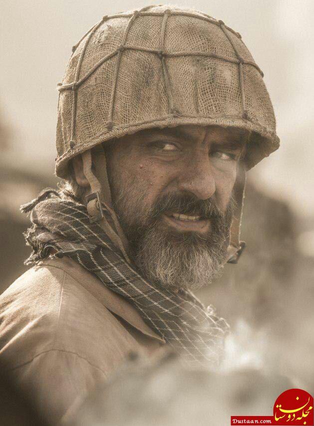 www.dustaan.com گریم دیدنی «مهدی پاکدل» در فیلم «تنگه ابوقریب» +عکس