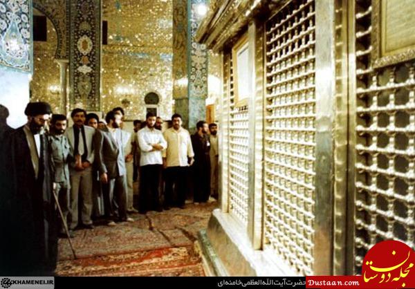 رهبر معظم انقلاب در حرم حضرت زینب (س) +عکس