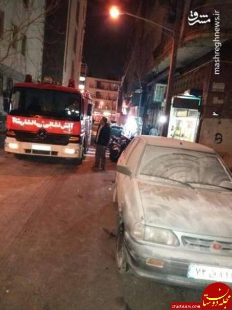 www.dustaan.com تصاویری از آتش سوزی هفت خودرو در خیابان انقلاب