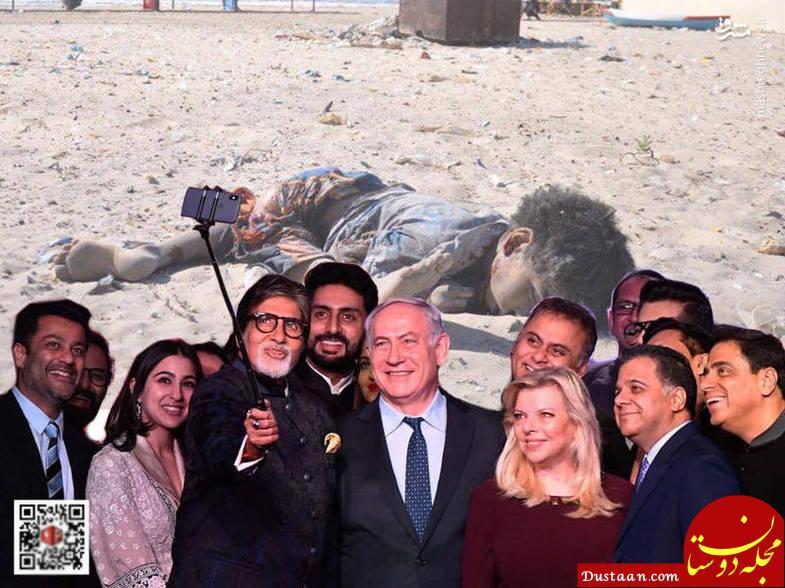 www.dustaan.com واکنش ها به سلفی جنجالی «آمیتاب باچان» با نتانیاهو +تصاویر