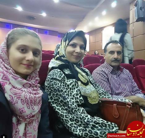 www.dustaan.com شیده معاونی در کنار همسر و دخترش +عکس