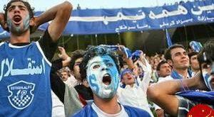 دختر استقلالی با گریم مردانه وارد استادیوم آزادی شد! عکس