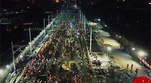 ساخت ایستگاه قطار در 9 ساعت توسط 1500 کارگر! + فیلم