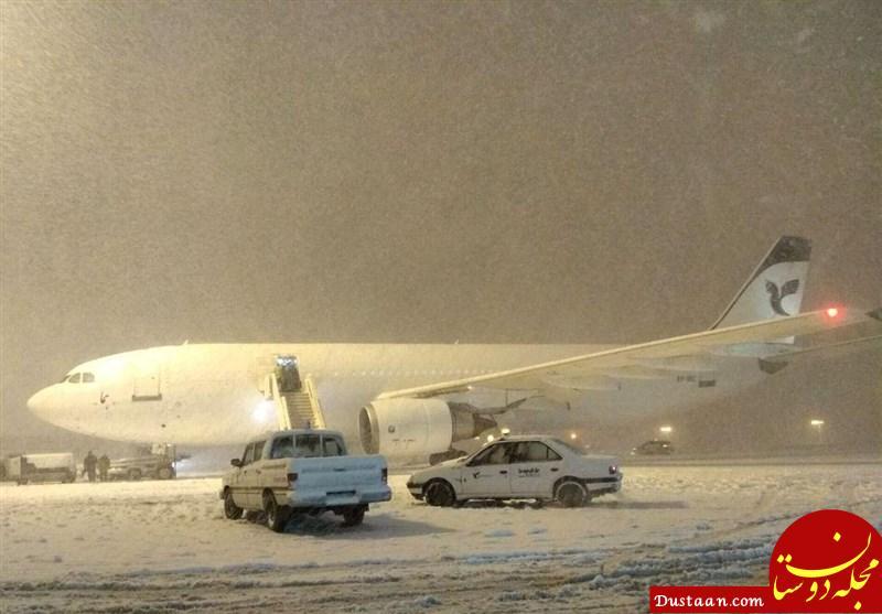 برف در فرودگاه امام خمینی