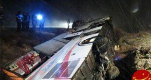 واژگونی اتوبوس ولوو در اصفهان 6 کشته برجای گذاشت