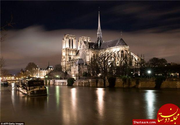 www.dustaan.com ادامه آب گرفتگی معابر پاریس/ استفاده از قایق برای سفر! +تصاویر
