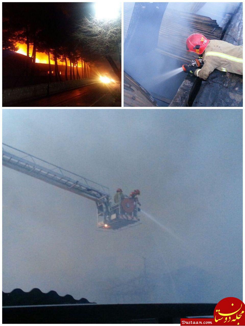www.dustaan.com آتش سوزی در کارگاه مبل سازی در خیابان دماوند +تصاویر