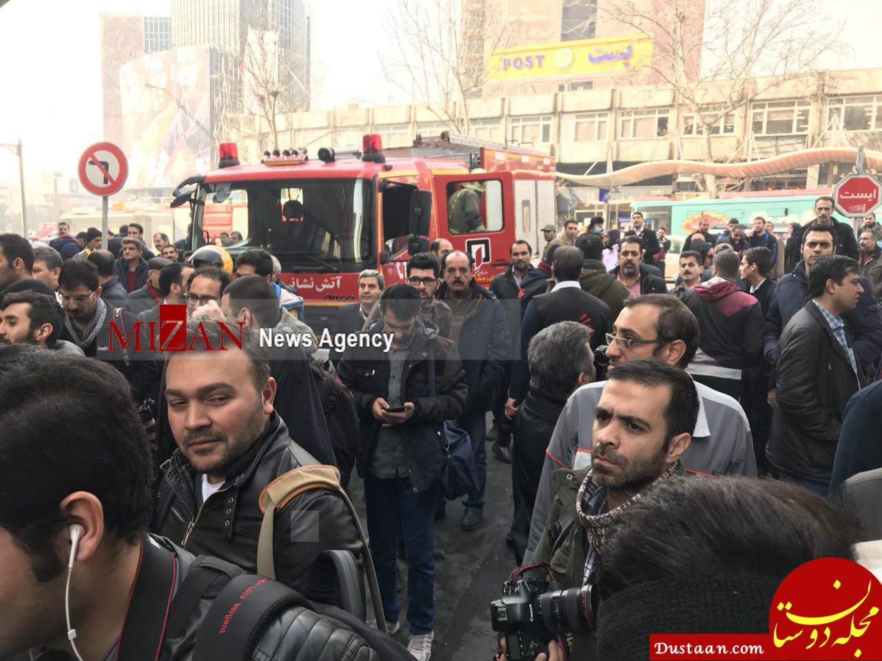 www.dustaan.com آخرین اخبار از آتش سوزی ساختمان وزارت نیرو در تهران +تصاویر و فیلم