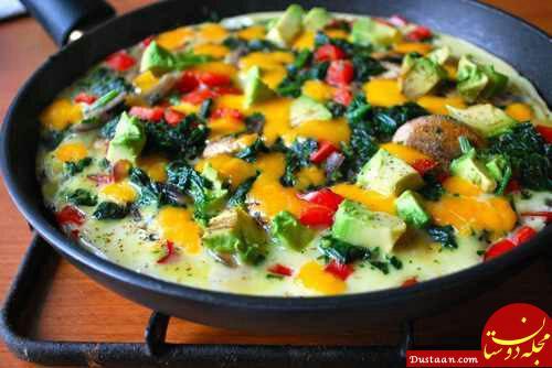 www.dustaan.com طرز تهیه املت سبزیجات با کلم بروکلی به سبکی خوشمزه