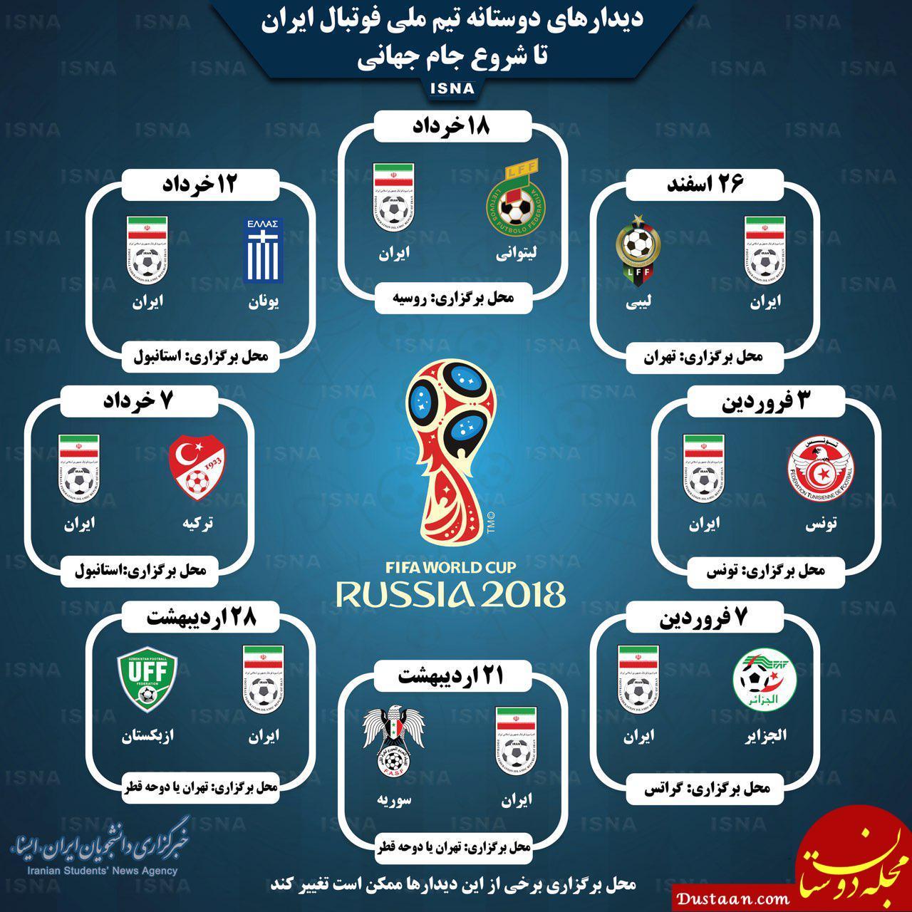 www.dustaan.com بازیهای دوستانه تیم ملی فوتبال ایران در یک نگاه +عکس