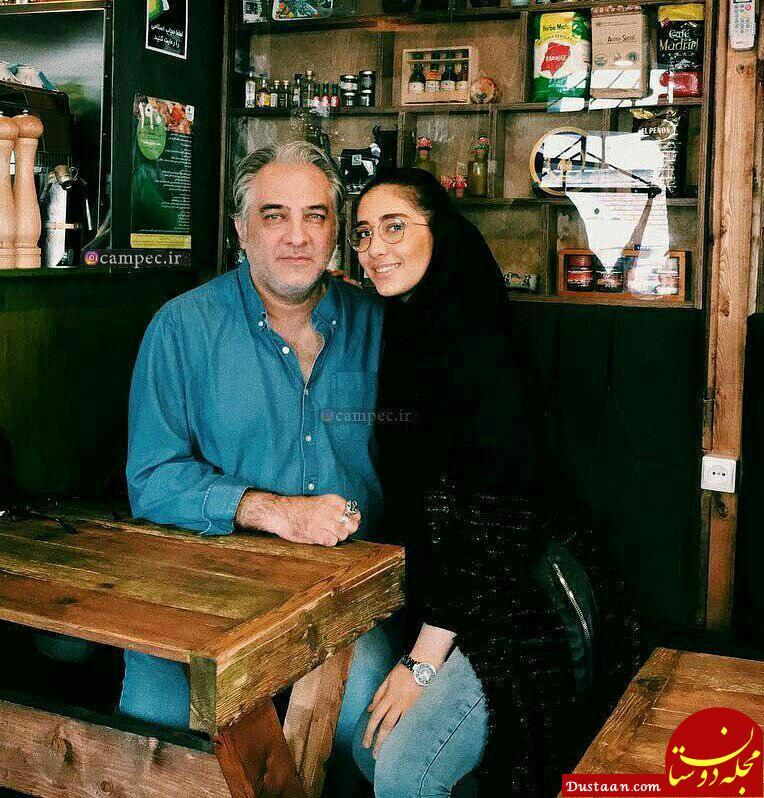 www.dustaan.com ایرج نوذری و دخترش در یک کافی شاپ! + عکس