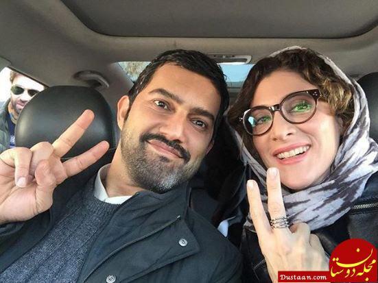 www.dustaan.com سلفی دیدنی ویشکا آسایش در کنار حامد بهداد! +عکس