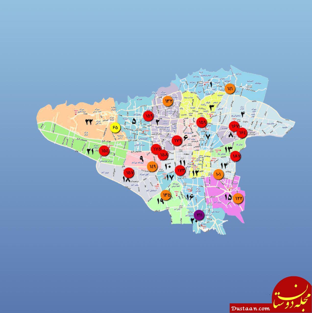 دوشنبه 15 بهمن/ نقشه دمای هوای مراکز استان ها