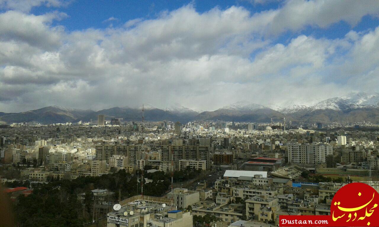 www.dustaan.com هوای پاک امروز تهران به روایت تصویر