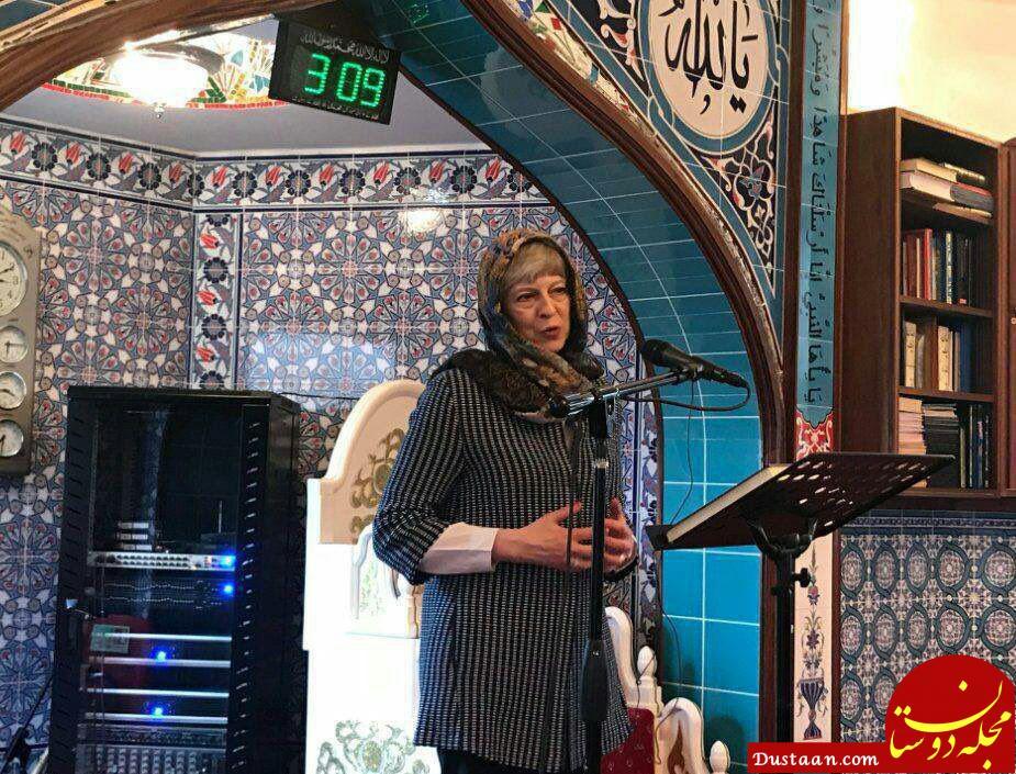 www.dustaan.com حجاب ترزا می در حین بازدید از یک مسجد! +عکس
