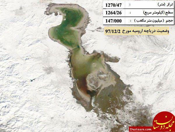 www.dustaan.com اوضاع دریاچه ارومیه پس از بارندگی های اخیر +عکس