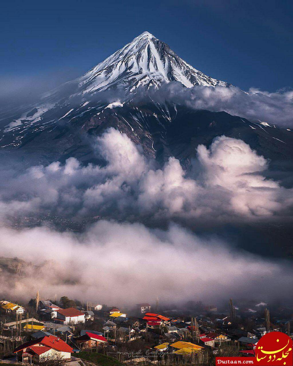 www.dustaan.com عکسی زیبا و کم نظیر از قله کوه آتشفشانی دماوند