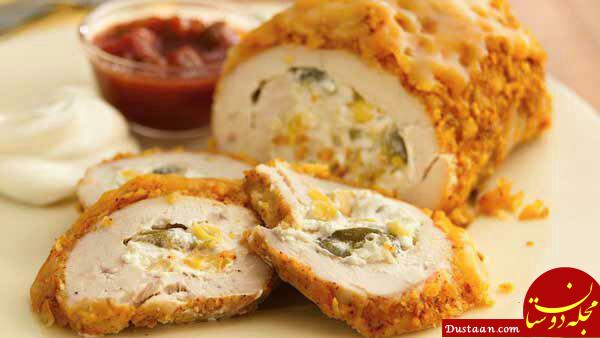 طرز تهیه رولت مرغ به سبکی خوشمزه و آسان