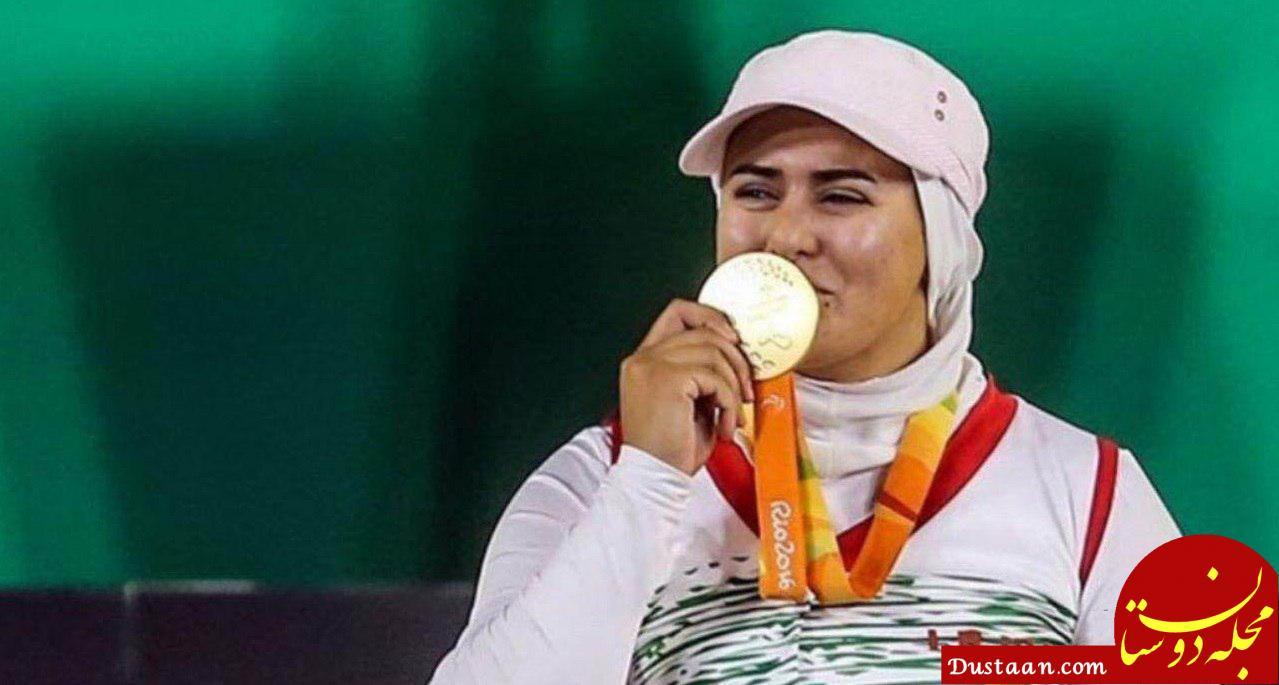 www.dustaan.com زهرا نعمتی بهترین ورزشکار معلول تیراندازی با کمان جهان شد
