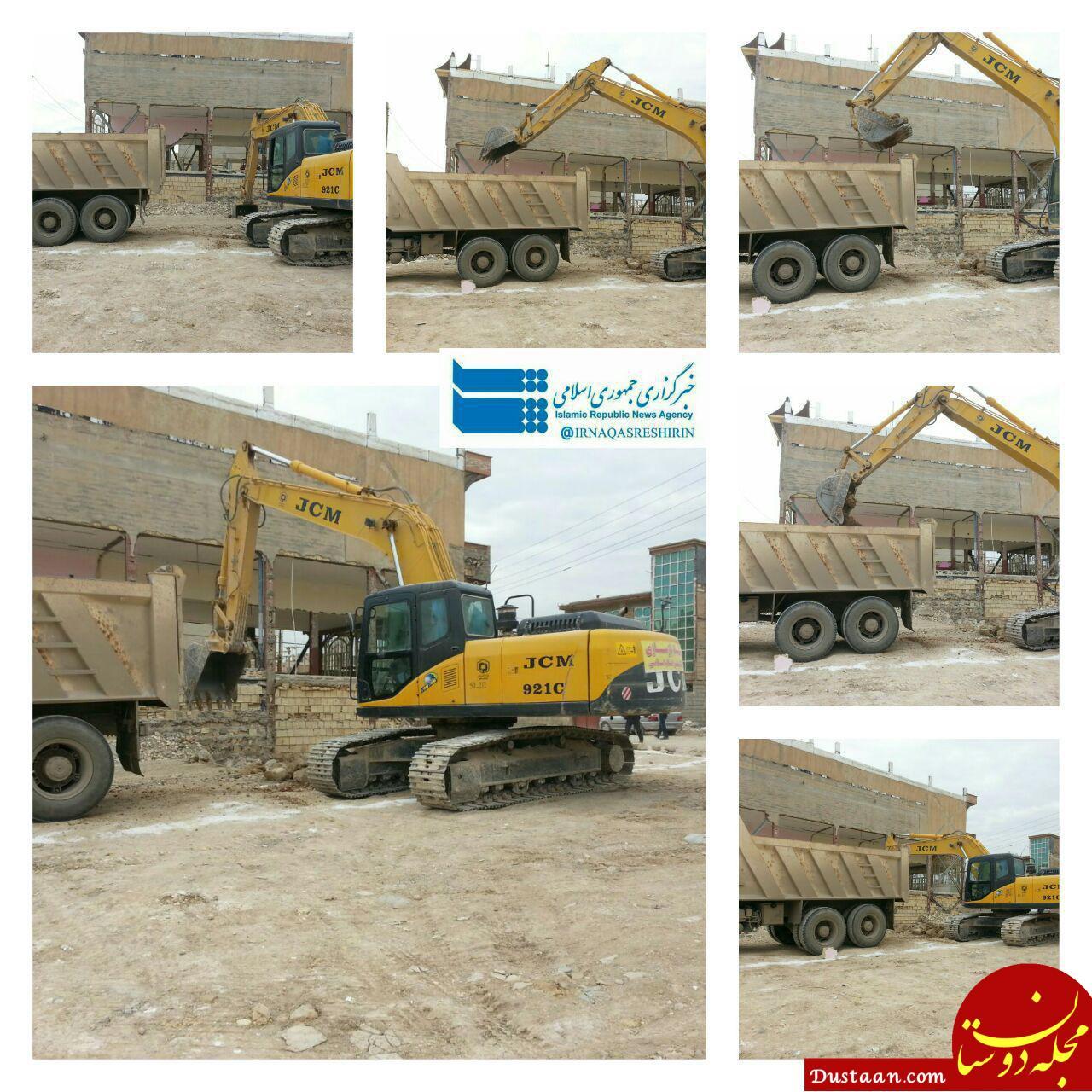 www.dustaan.com آغاز عملیات ساخت نخستین واحد مسکونی تخریب شده در سرپل ذهاب