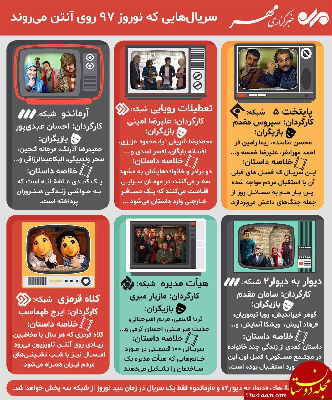 www.dustaan.com سریال های نوروزی تلویزیون در یک نگاه +عکس