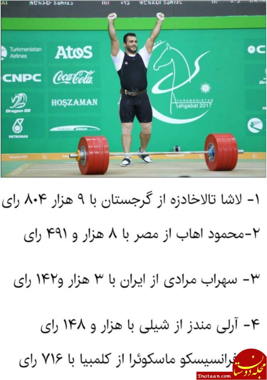 www.dustaan.com سهراب مرادی سوم شد +عکس