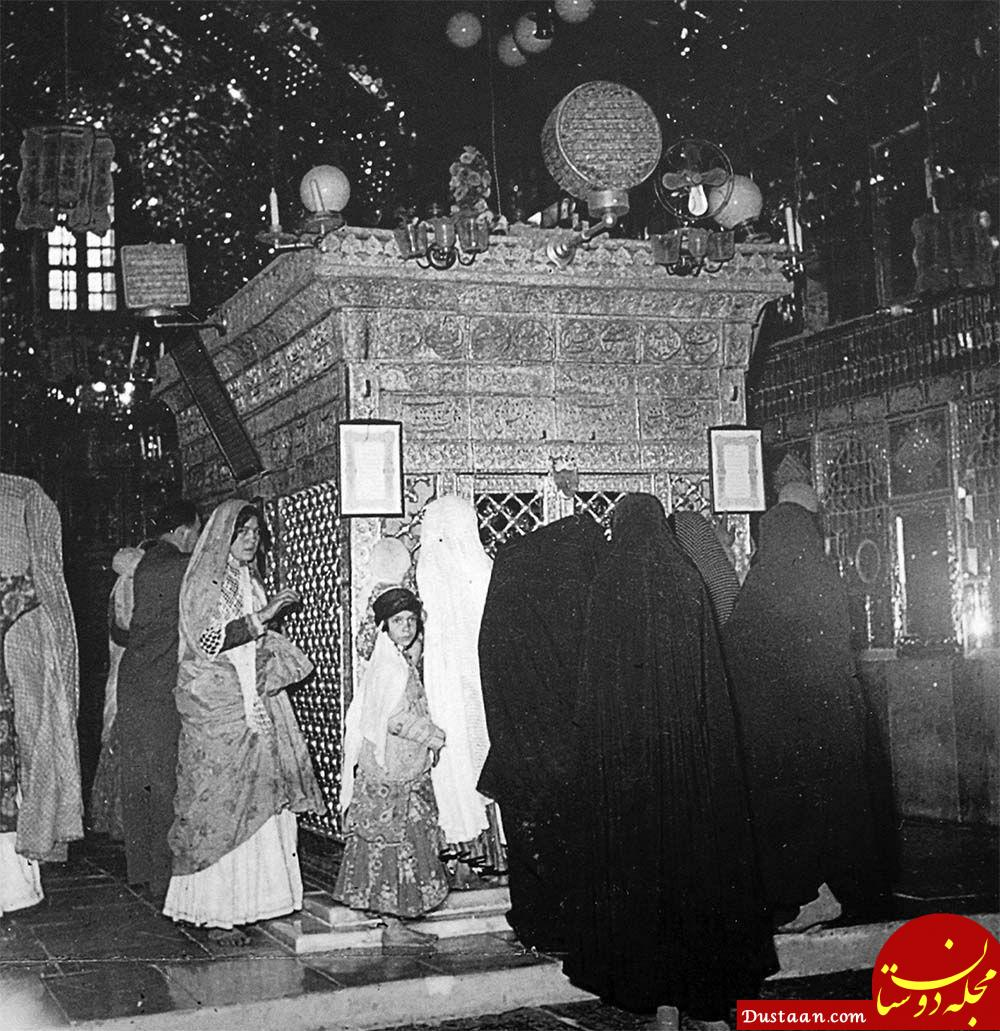 www.dustaan.com ضریح مطهر شاهچراغ (ع) 90 سال پیش +عکس