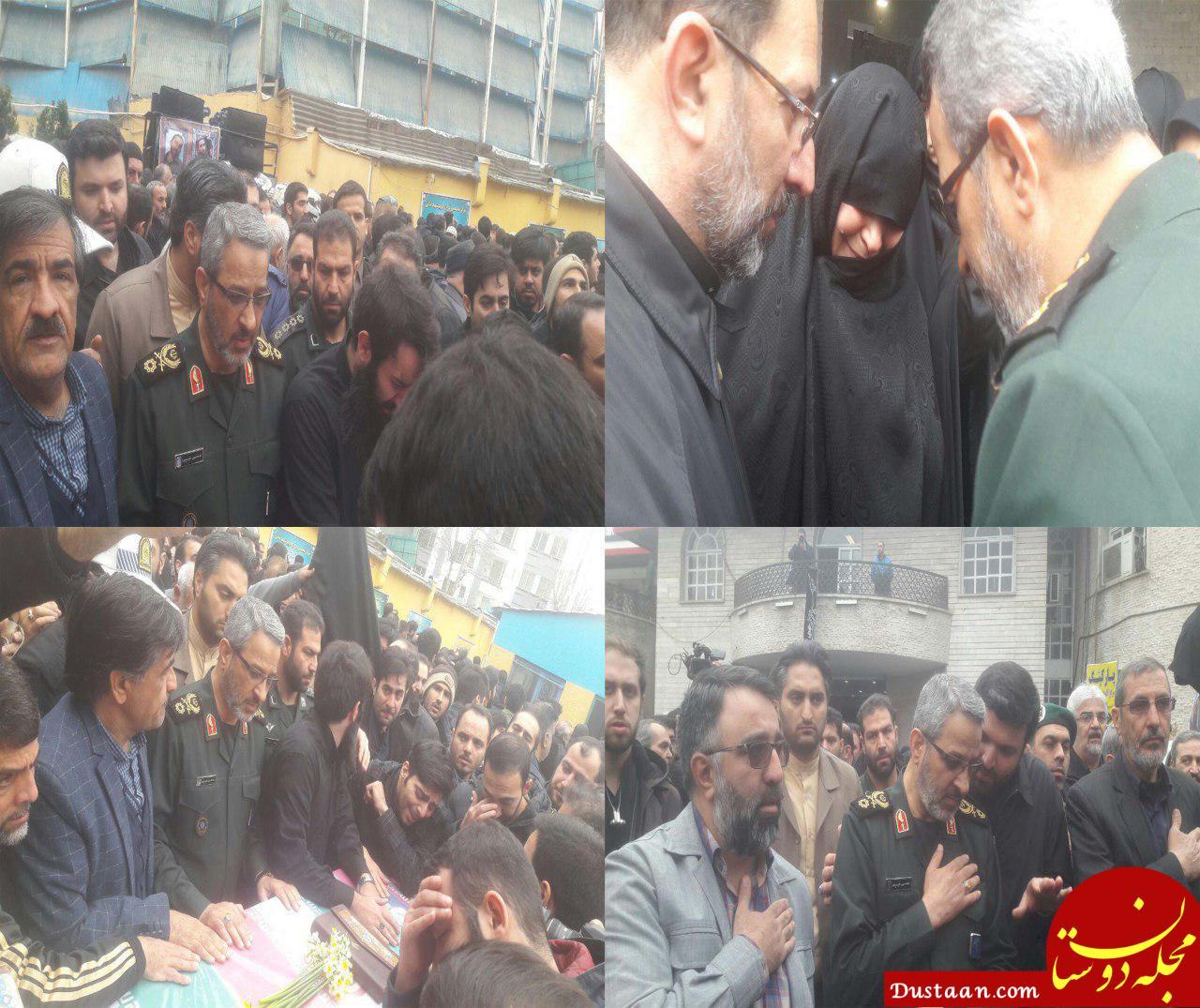 www.dustaan.com تصاویر تشییع پیکر مطهر شهید محمد حسین حدادیان