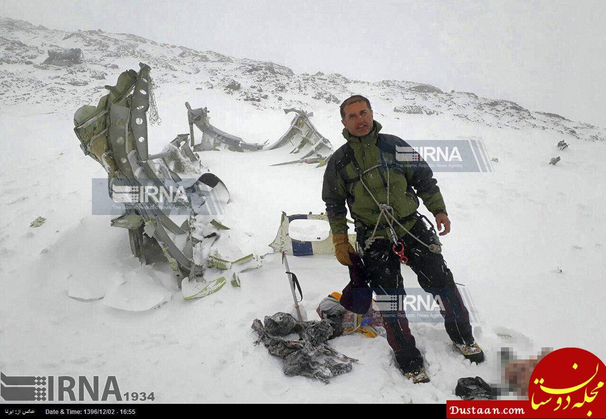 www.dustaan.com تصاویر لاشه هواپیما تهران   یاسوج در قله دنا