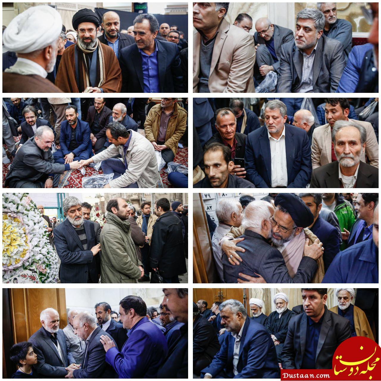 www.dustaan.com چهره های حاضر در مراسم ترحیم محمد توکلی +تصاویر