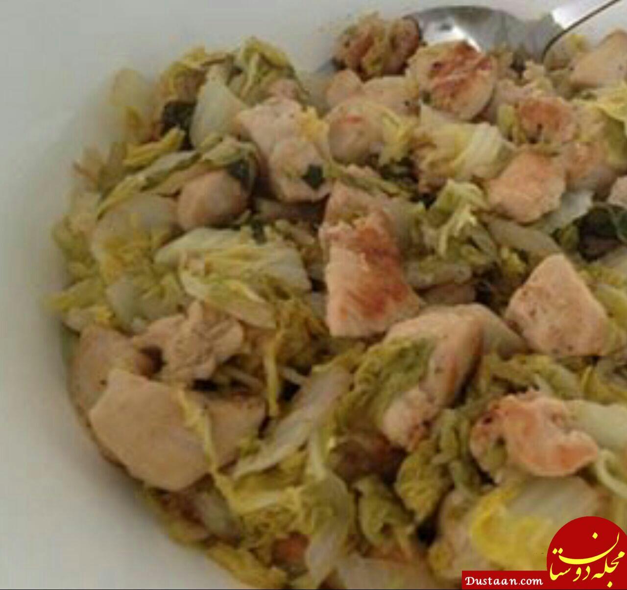 www.dustaan.com طرز تهیه یک شام خوشمزه در عرض 30 دقیقه با مرغ و کاهو!