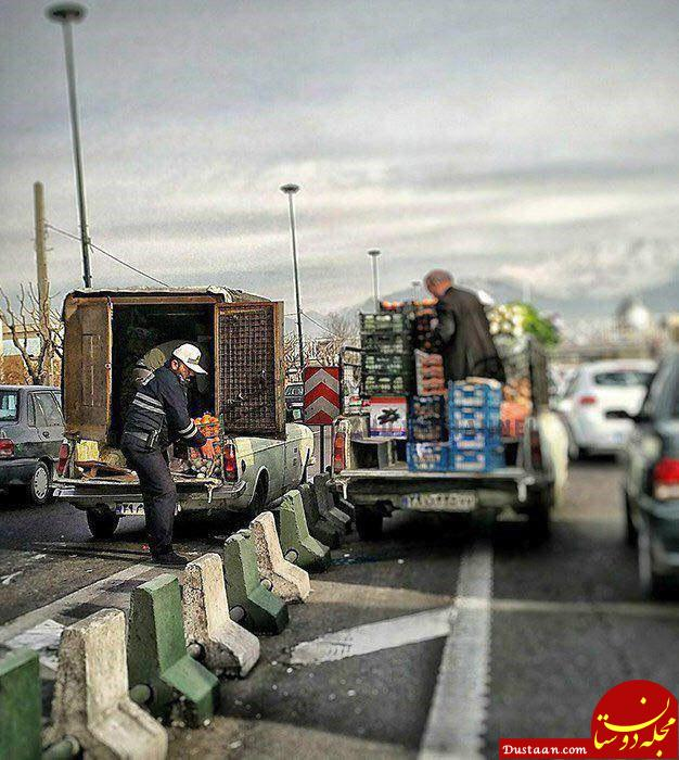 www.dustaan.com اقدام تحسین برانگیز یک پلیس! +عکس