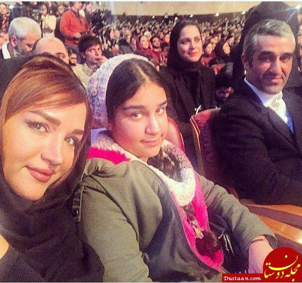 www.dustaan.com پژمان جمشیدی با خواهر و خواهرزاده اش در جشنواره فجر +عکس